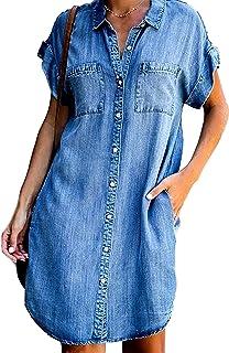 denim shirt dress,blue jean dress,