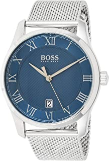 Hugo Boss Mens Quartz Watch, Analog Display and Stainless Steel Strap 1513737
