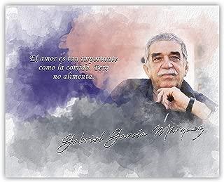 Ramini Brands Importante Como La Comida El Amor Gabriel Garcia Marquez Inspirational Quote - 8 x 10 Unframed Print - Great Gift for Spanish Teachers, Writers and Journalists - Wall Art