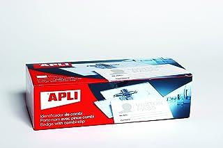 APLI 11746–25Porte-badges avec Pince + épingle (90x 56mm)