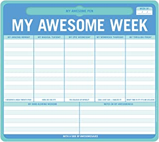 Knock Knock My Awesome Week Paper Mouse Pad, Weekly Calendar Pad & Daily To Do List Pad, 9.5 x 8-Inches