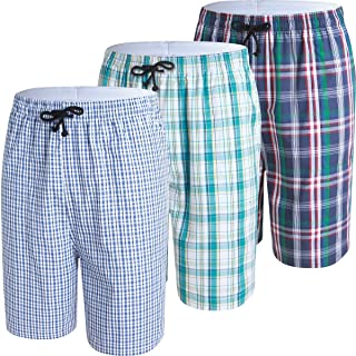JINSHI Men's Sleep Shorts Lounge Sleepwear 3PACK