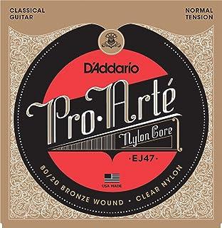 D'Addario EJ47 80/20 青铜 Pro-Arte 尼龙经典吉他弦,正常张力