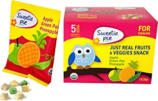 Sweetie Pie Organics Freeze-dried Apple/Green Pea/Pineapple Healthy Baby and Toddler Snack, Organic Real Fruits & Veggie P...