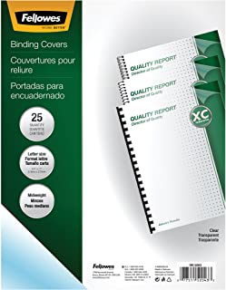 Fellowes Binding Presentation Covers, 8mil, Letter, 25 Pack, Clear (52043)