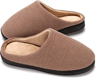 Men's Women's Slippers Two-Tone Memory Foam House Bed Slippers Shoes Indoor & Outdoor