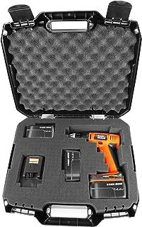 DRILL CASE - RUGGED Case fits BLACK & DECKER Cordless Drills / Drivers , Batteries , Chargers and Bits - Fits LDX120 20-Volt / LD120VA / BDCD120VA / SS-12 / BDCDMT120 / BDCDD220C and more