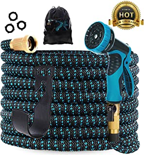 Gardguard 50ft Expandable Garden Hose: Water Hose with 9 Function Spray Nozzle and..