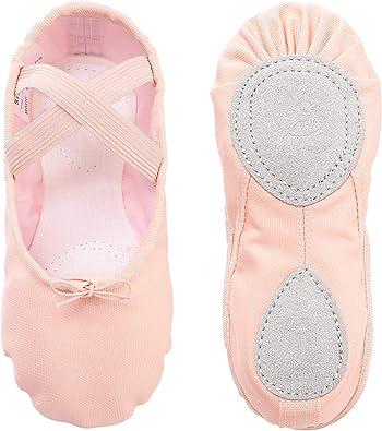 Ballet Shoes Ballet Dance Shoes Split Leather Sole Canvas Yoga Gymnastic Shoes for Girls Women Kids Children's Adults