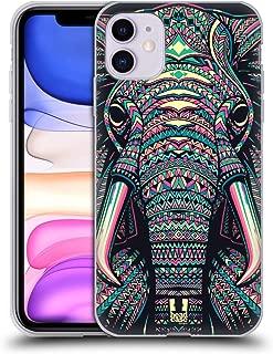 Head Case Designs Elephant Aztec Animal Faces 2 Soft Gel Case Compatible for iPhone 11