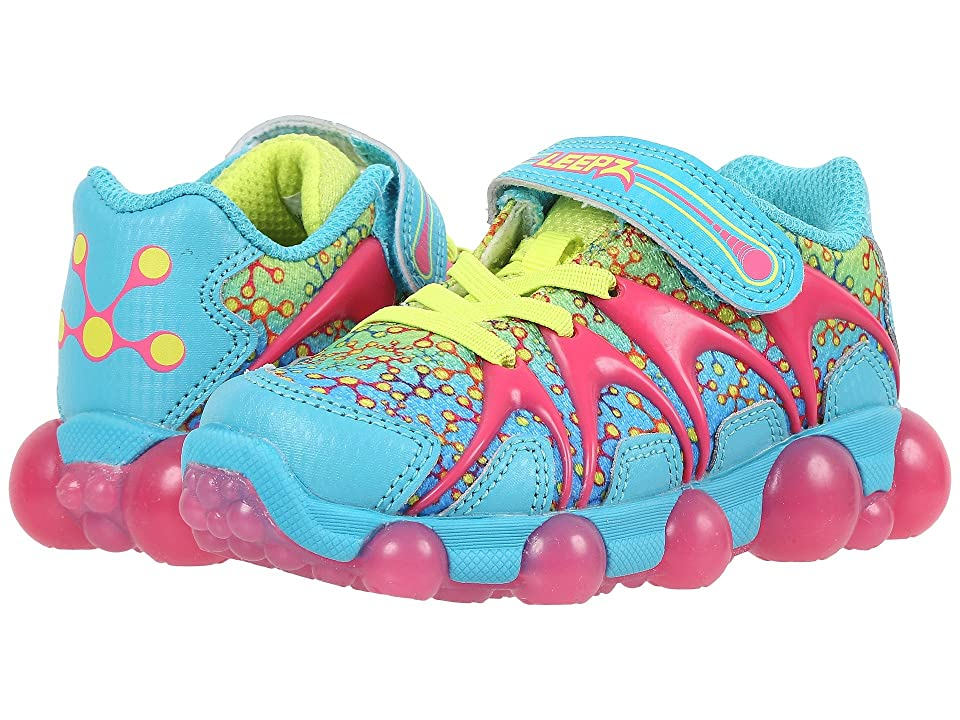 Stride Rite Leepz (Toddler/Little Kid) (Blue/Citron/Pink Leather/Mesh) Girl