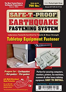 Safe-T-Proof Earthquake Fastening System-Tabletop Equipment Fastener, Putty