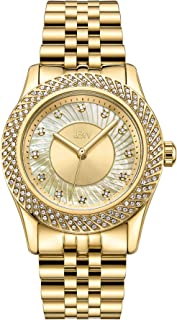 JBW Luxury Women's Carina 12 Diamonds Interchangable Bezel Metal Watch