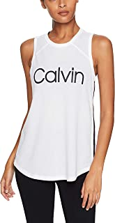 CALVIN KLEIN Women's Performance High Neck Logo Tank