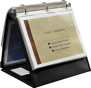 Lion Insta-Cover Ring Binder Easel, 1 Binder Easel 1-1/2-Inch Ring Black