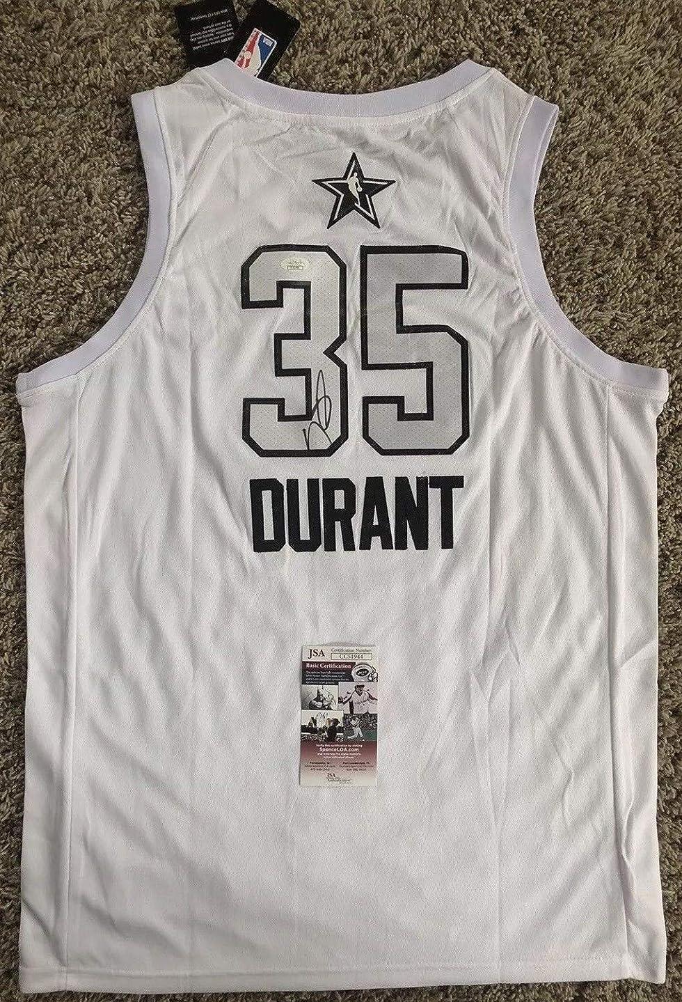 Kevin Durant Autographed Signed 2018 Nba All Star Game Jersey Memorabilia JSA COA #35 Warriors Nba Mvp
