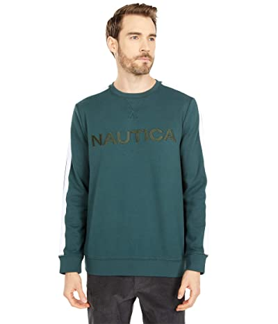 Nautica Logo Fleece Sweatshirt (Bayou Green) Men