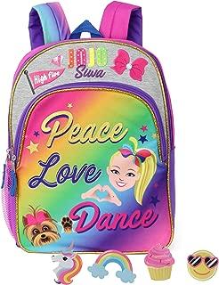 Nickelodeon JoJo Siwa Full Size Backpack With Accessories (Peace Love Dance)