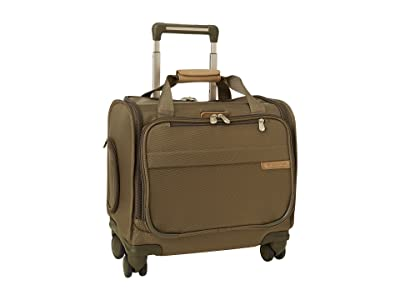 Briggs & Riley Baseline Carry-On Cabin Spinner (Olive) Carry on Luggage