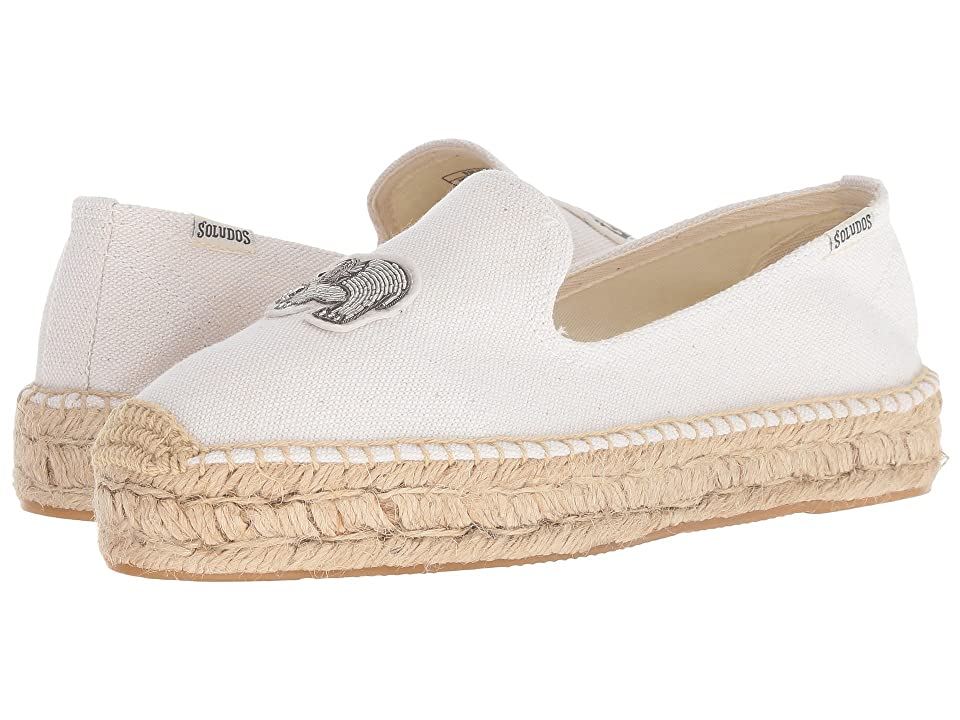 Soludos Elephant Beaded Smoking Slipper (White) Women