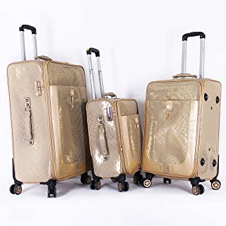 Fessura Luggage Trolley Bags Set for Unisex, 3 Pieces, Beige - 97600