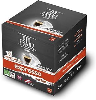 comprar comparacion Café Der-Franz - Café Espresso en cápsulas con certificación UTZ, 100 cápsulas, compatible con Nespresso, 100 % compostable