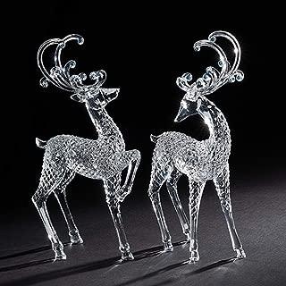 Best clear acrylic reindeer figurines Reviews