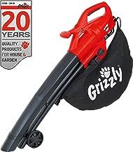 Grizzly Elektro 3in1 Laubsauger Laubbläser Häcksler - 2800 Watt - Blasgeschwindigkeit 270 km/h - große Räder - 40 l Fangsack und Tragegurt