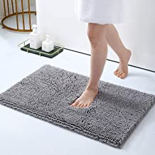 Smiry Luxury Chenille Bath Rug, Extra Soft and Absorbent Shaggy Bathroom Mat Rugs, Machine Washable, Non-Slip Plush Carpet...
