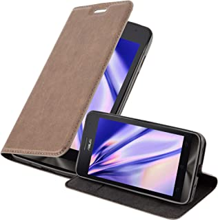 Cadorabo Book Case Works with Asus ZenFone 5 2014 in Coffee Brown – with Magnetic Closure, Stand Function and Card Slot – Wallet Etui Cover Pouch PU Leather Flip