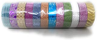 pencil box Glitter Tape for Craft Decoration, Scrapbook and More (Multicolour) -Set of 12 Pieces