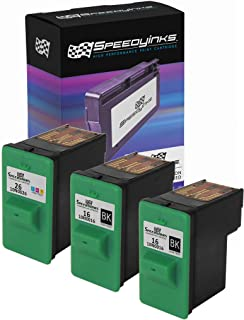 Speedy Inks Remanufactured Ink Cartridge Replacement for Lexmark 16 & Lexmark 26 (2 Black, 1 Color, 3-Pack)