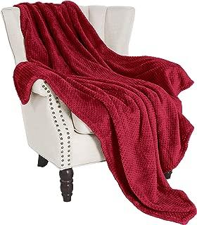 Exclusivo Mezcla Waffle Flannel Fleece Velvet Plush Large Throw Blanket – 50