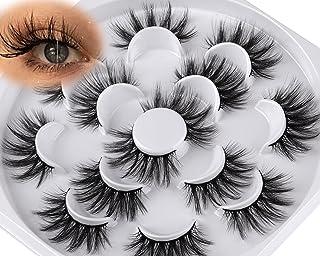 7 Pairs Lashes Natural False Eyelashes Pack Wtvane Wispies Light Fake Eyelashes Bulk Soft Reusable 3D Eyelashes 20MM Fluffy
