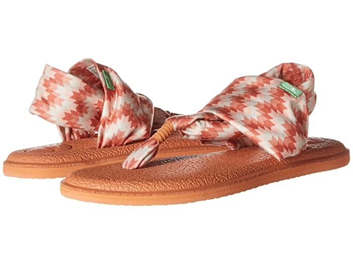Sanuk  Yoga Sling 2 Prints (Coral Chevron) Womens Sandals