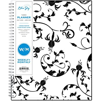 "Blue Sky 2020-2021 Academic Year Weekly & Monthly Planner, Flexible Cover, Twin-Wire Binding, 8.5"" x 11"", Analeis"