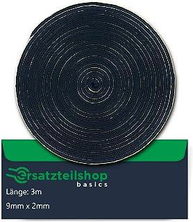 Dichtband/Dichtung 9mmB x 2mmD zur Montage von Kochfeldern/Ceranfeld   Länge: 3m   ersatzteilshop basics Montageband