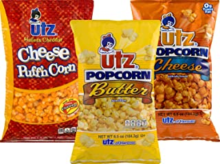 Utz Butter, Cheese & Hulless Puffin' Cheddar Popcorn Variety 3-Pack