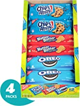 Nabisco Variety Cookies Mix with Oreo, Chips Ahoy! and Nutter Butter Full-Size, 12 Count, Pack of 4