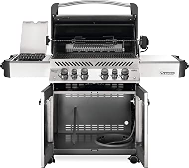 Napoleon P500RSIBPSS-3 Prestige 500 RSIB Propane Gas Grill, sq. in + Infrared Side and Rear Burner, Stainless Steel