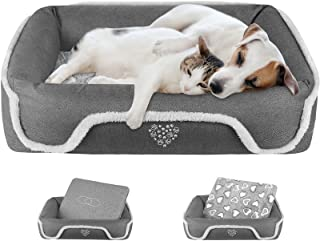 """VANKEAN Dog Bed26""""/34""""/38""""/43""""/48"""" with Reversible Mattress (Cool &Warm), Sleeping Pet Bed for Dogsand Cats, Machin..."""