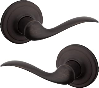 Kwikset Tustin Hall/Closet Lever with Microban Antimicrobial Protection in Venetian Bronze