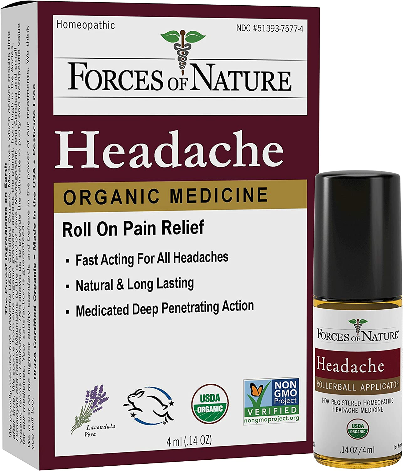 Under blast sales Forces of Nature – Natural Care Large-scale sale 4ml Pain Headache Organic