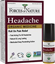 Forces of Nature – Natural, Organic Headache Pain Care (4ml) Non GMO, No Harmful Chemicals -Relief for Tension, Stress and...
