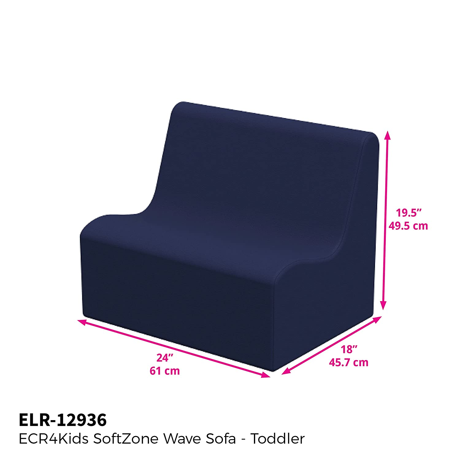 Set of 2 Soft Foam Seating for Kids//Toddlers//Teens Emerald ECR4Kids SoftZone Wave Chairs Pre-School