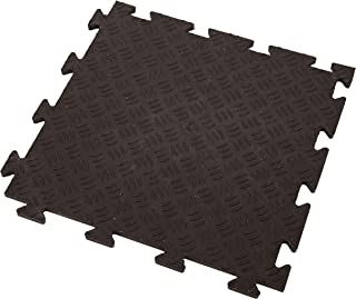 IncStores Commercial Grade Virgin PVC Eco Flex Tiles Ideal for Garage Flooring, Gyms, Trade Shows and Basements (Diamond Black)