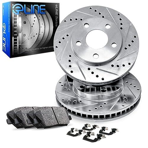 Max Brakes Front Premium Brake Kit Fits: 2007 07 2008 08 2009 09 2010 10 Hyundai Veracruz KT114841 OE Series Rotors + Ceramic Pads