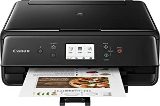 Canon 2986C002 PIXMA TS6220 Wireless All In One Photo Printer with Copier, Scanner and Mobile Printing, Black, Amazon Dash...