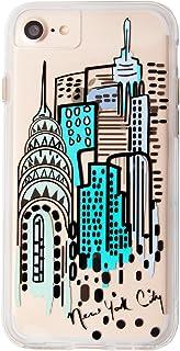 Case-Mate iPhoneケース (iPhone 8 / 7 / 6s / 6) ハード スマホケース カバー [耐衝撃・ワイヤレス充電対応・二重構造] タフ ネイキッド クリア (ニューヨーク シティ ビュー) Apple Pay 対応