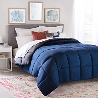Linenspa All-Season Reversible Down Alternative Quilted Comforter – Hypoallergenic..